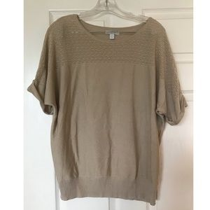 NY&C Lightweight Tan Sweater